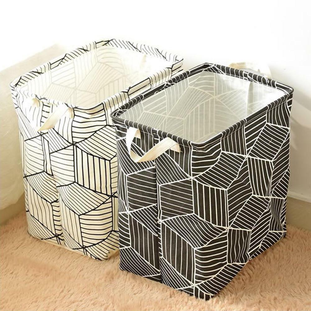 Laundry Box Foldable PE Coating Waterproof Dirty Clothes Sto