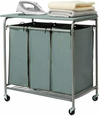 laundry clothes sorter basket hollyhome cart