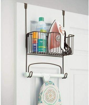 Laundry Clothes Basket Mdesign Metal Ironing Holder With