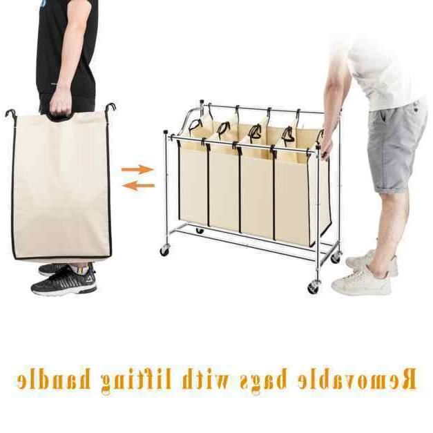 Laundry Hamper with Removable Heavy-Duty Organizer Cart