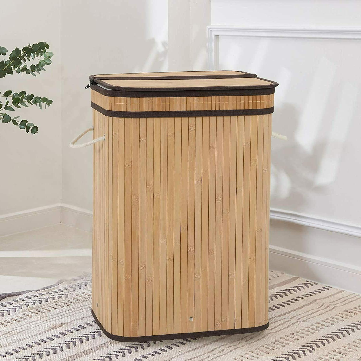 Laundry with Lid 72L Basket Removable Liner