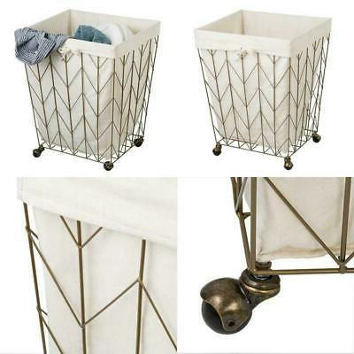 laundry hamper with wheels coastal collection bronze
