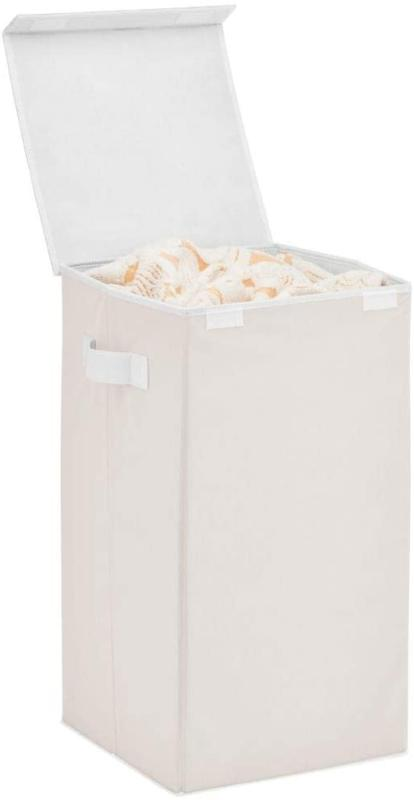 Mdesign Large Laundry Hamper Basket With Hinged Lid And Atta