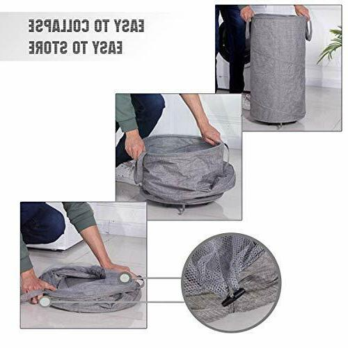 Newest ZYMEO Pack Collapsible with Wheels, Handles Top