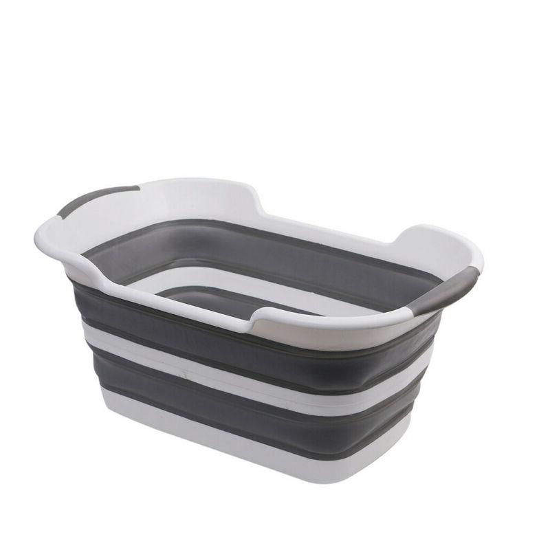 Collapsible Plastic Laundry Basket Foldable Storage Containe