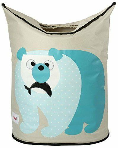 polar bear laundry hamper baby clothes basket