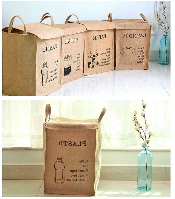 Recycle Waste Paper Metal Can Basket
