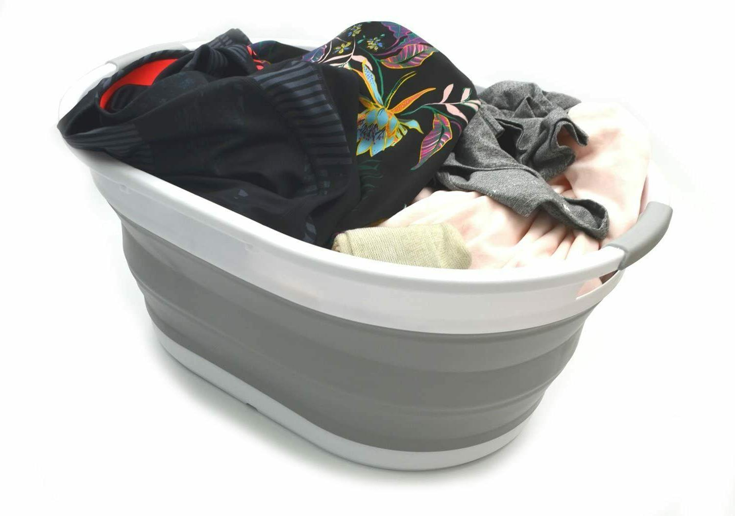 Set of 2-28L Collapsible Oval Tub/Basket-F