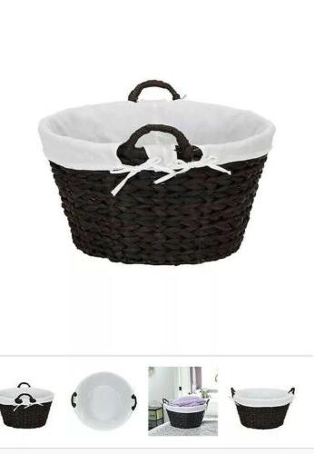 Set Banana Laundry Baskets W/ Removable Brown Country