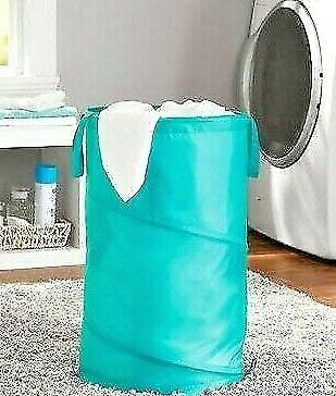 simple house ware round closet laundry hamper