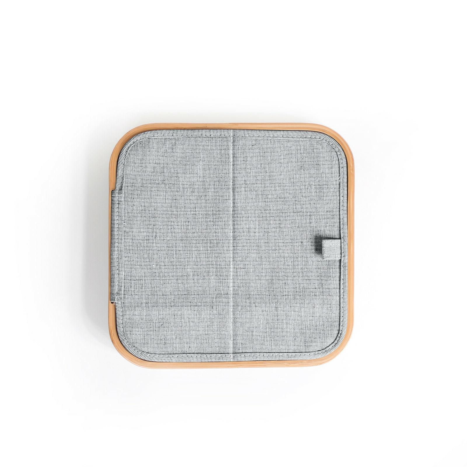 Square Lid Laundry Hamper Grey Collapsible RRP $59