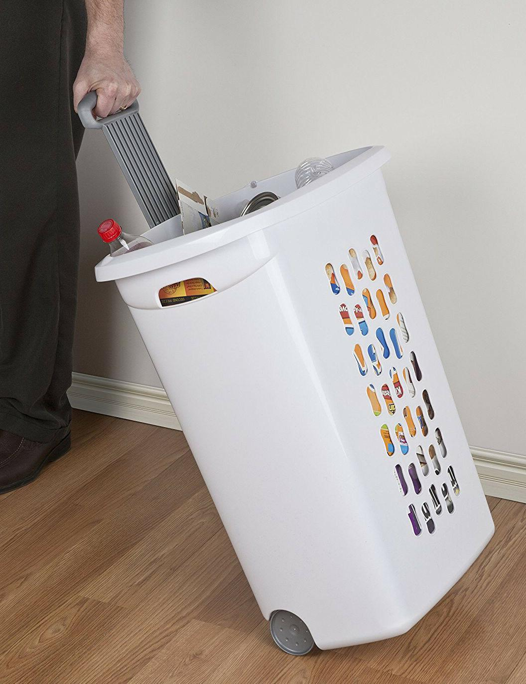 Wheeled Laundry Pack Hamper Portable With Lid Large