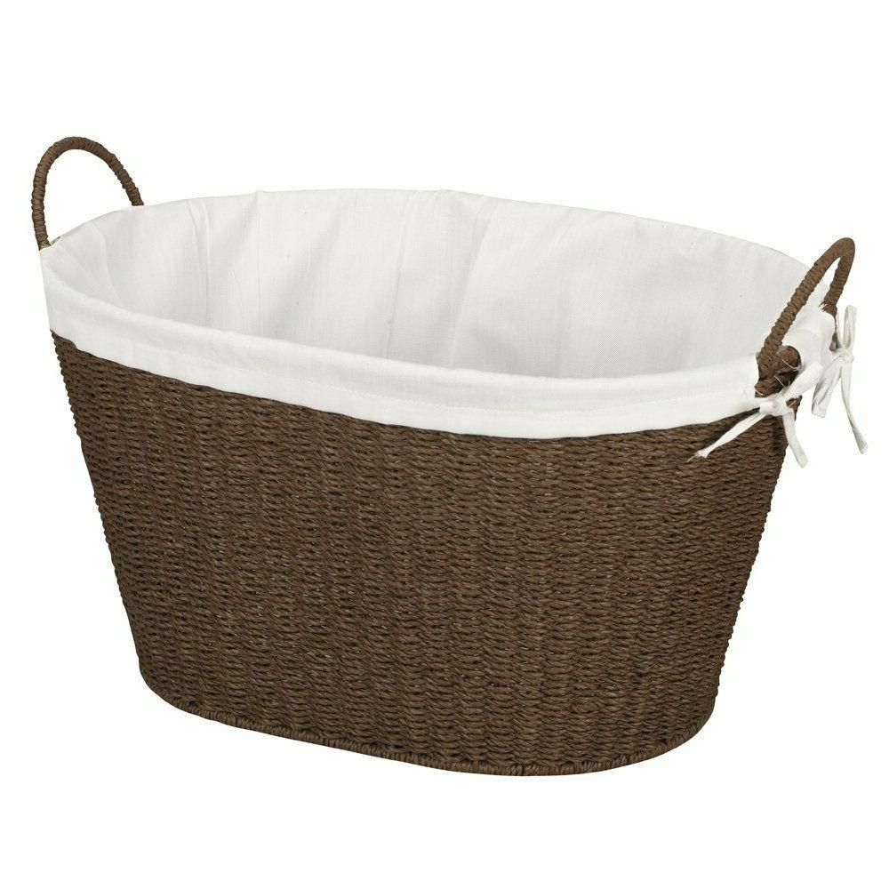 Wicker Basket With Handles Liner Air