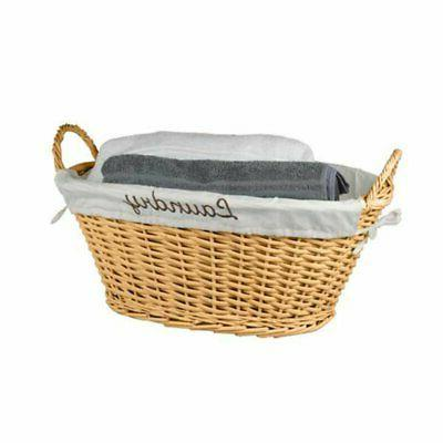 wicker laundry basket with removable liner