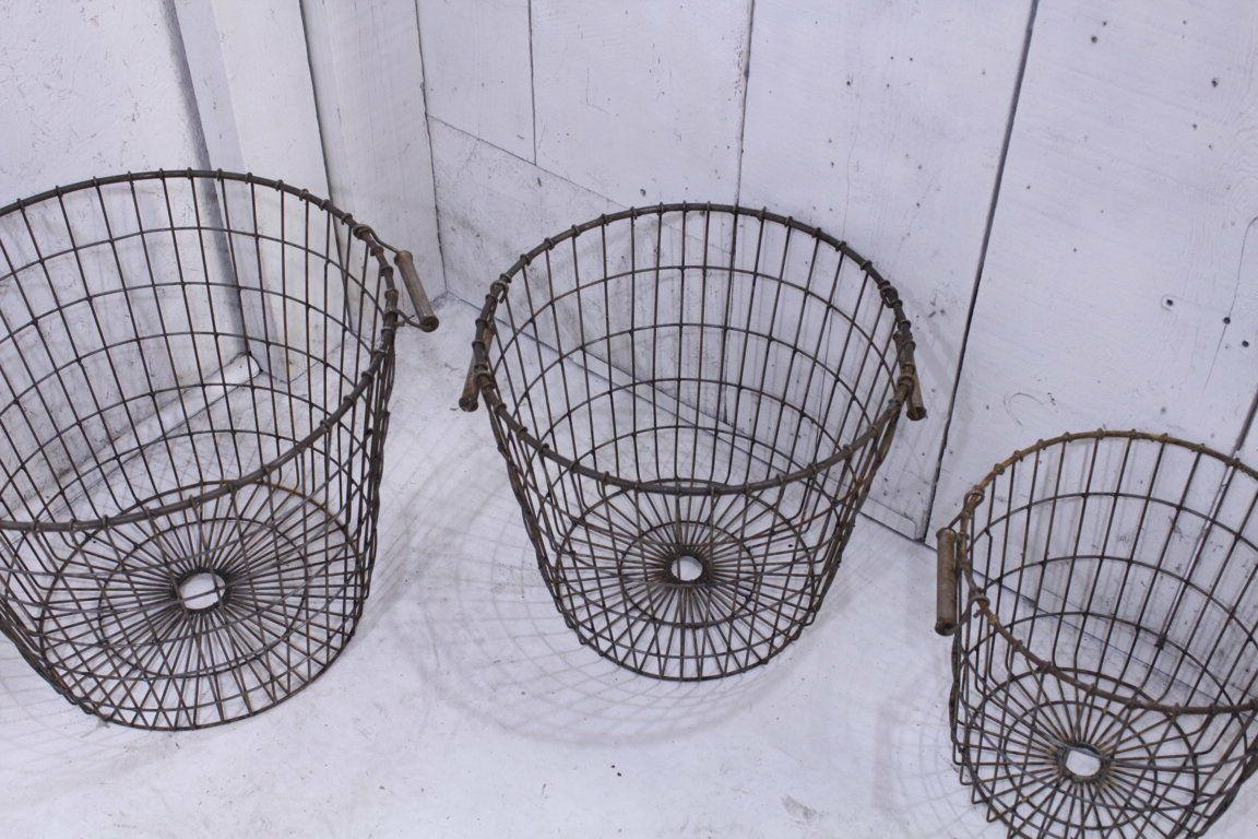 Wrought Iron Large Basket Laundry Industrial Container