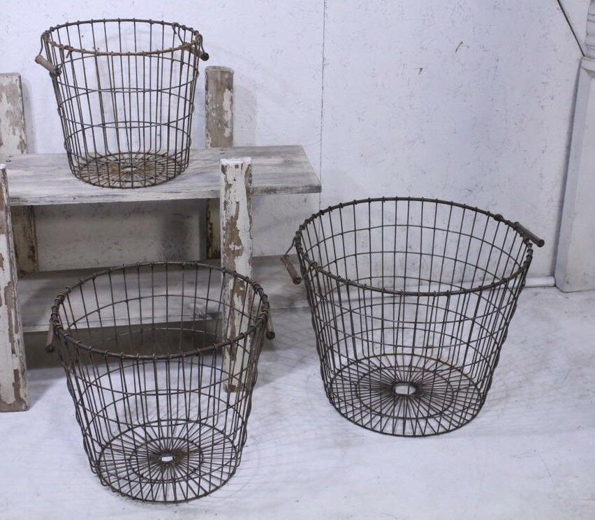 Wrought Iron Basket Industrial Container