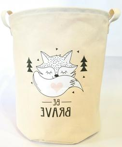 Large Fabric Canvas Collapsible Fox Laundry Basket Fox Baby
