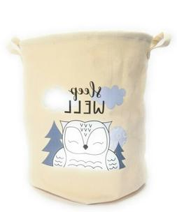 Large Fabric Canvas Collapsible Owl Laundry Basket Owl Baby