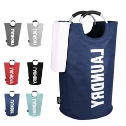 Large Laundry Basket Collapsible Hamper Tall Foldable Clothe