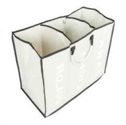 Laundry Basket 3 Sections Large Dirty Clothes Hamper Foldabl