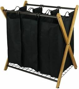 Laundry Clothes Sorter Basket Sorters Oceanstar Bamboo 3-Bag