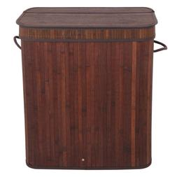 Laundry Hamper Home Dirty Clothes Clean Storage Brown With L