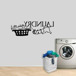 Laundry Makes Me A Basket Case Wall Decal - Laundry, Mudroom