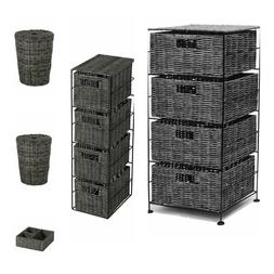 Matteo - Grey Wicker Laundry Bathroom Kitchen Home Storage U