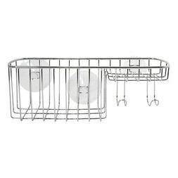 InterDesign Milo Suction Combo Basket, Chrome