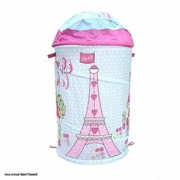 paris hamper laundry basket tower pink room