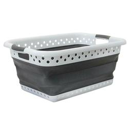 Pop & Load White and Gray Collapsible Plastic and Rubber Lau