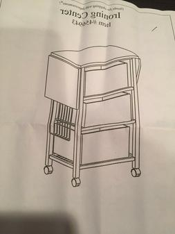 Portable Ironing Board Center Station Storage Cart With Bask