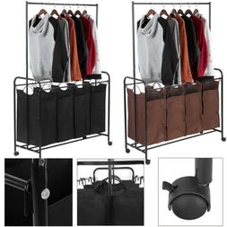 Rolling Hamper Laundry Cart Organizer Basket 3/4 Bag Washing
