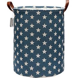 Sea Team Star Pattern Laundry Hamper Canvas Fabric Laundry B