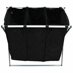 Tri-Part Laundry Hampers Basket  Tall Bin Dirty Clothes For