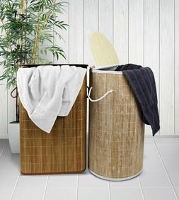 Odyssey Living Washed Bamboo Bobo Style Rectangle Laundry Ba