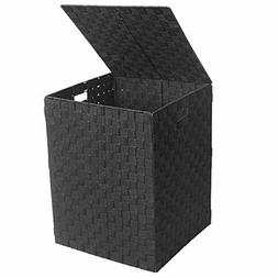 WAYTRIM 73L Foldable Woven Laundry Hamper with Lid and Build