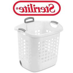 Sterilite Wheel Laundry Basket 1.75-Bushel In White, Case of