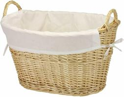 Household Essentials Willow Wicker Laundry Basket With Handl