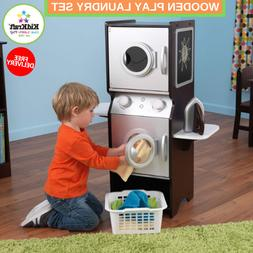 Wooden Play Laundry Set With Iron & Laundry Basket And Stora