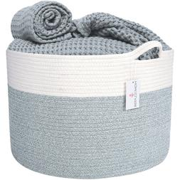 XXL Cotton Rope Basket - For Storage, Laundry, Toys, Clothes