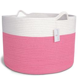 XXL Cotton Rope Basket - For Toys, Blankets, Laundry, Clothe